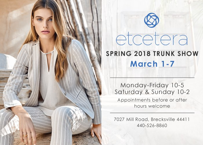 Etcetera Spring 2018 Trunk Show Davide Cotugno Executive Tailors
