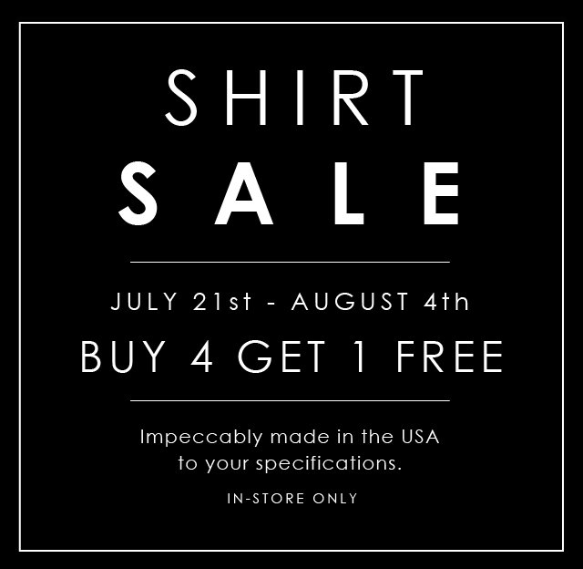 SHIRT Sale Email 2016