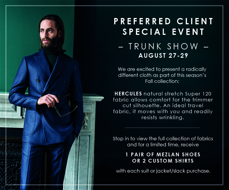 Scabal Fall Trunk Show